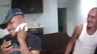 Straight married Mexican men with big uncut vergas fuck each other