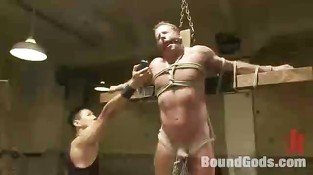 Well hung gay slave got abused