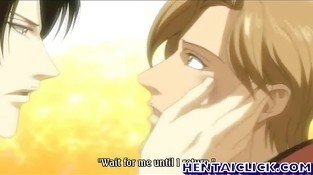 Anime gay couple hot foreplay fun and kiss