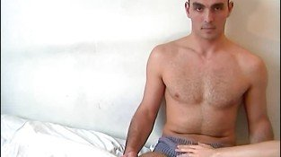 Good looking French gay dude shows off his hot body