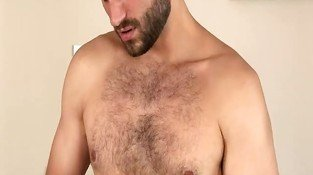 David Chase Has The Beautiful Hairy Chest, Handsome Features And Nice Huge Dick.  He Also Doesn't Waste A Drop Of His Cum.