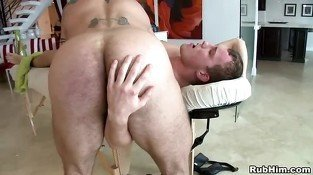 Deep blowjob for gay boy