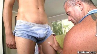 Pleasurable oral stimulation with sexy gay couple