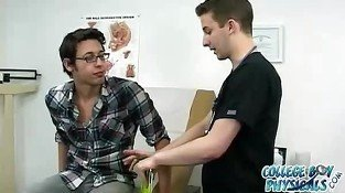 Handsome gay dude nailed by his doctor