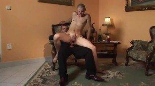 Bald gay sucking cock of smoking man